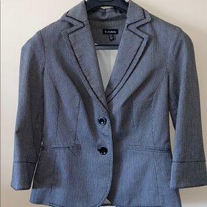 Le chateau gray and black pin stripe blazer